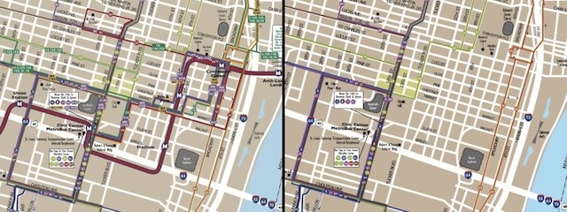Comparison of Downtown Bus Services