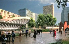 SOM Rendering of CWE MetroLink station