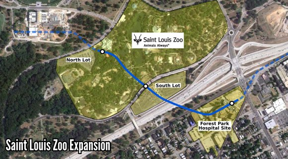 Map of Saint Louis Zoo Expansion